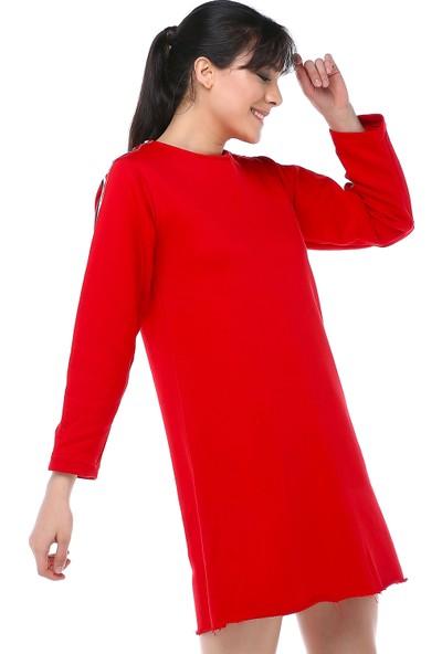 Cream&Rouge 17Y369 Elbise Kollar Şeritli