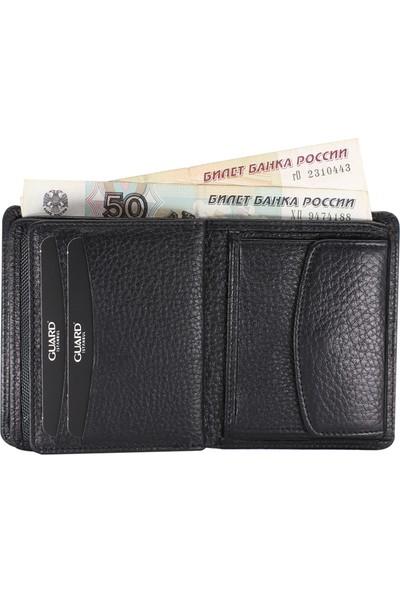 Guard Bozuk Para Girişli Siyah Deri Erkek Cüzdanı