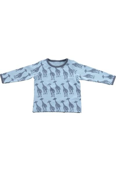 Uygun Bebe Zürafa Desenli Kız Çocuk Sweatshirt