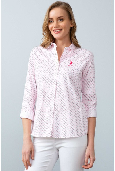 U.S. Polo Assn. Kadın Dokuma Gömlek 50199641-Vr041