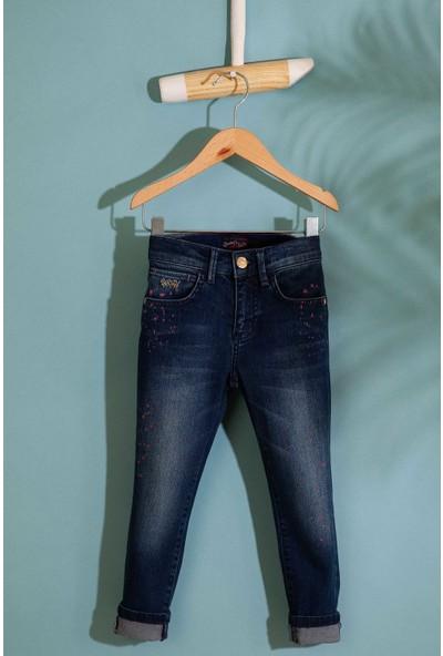U.S. Polo Assn. Kız Çocuk Denim Pantolon 50200897-Dn0022
