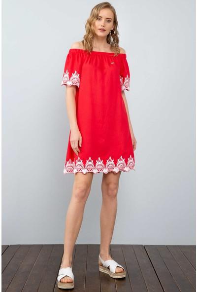 U.S. Polo Assn. Kadın Dokuma Elbise 50201979-Vr030