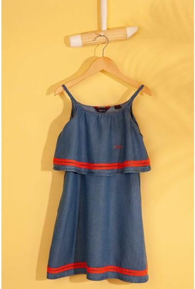 U.S. Polo Assn. Kız Çocuk Denim Elbise 50202066-Dn0022