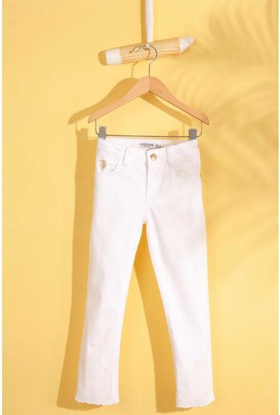 U.S. Polo Assn. Kız Çocuk Dokuma Spor Pant 50203093-Vr013