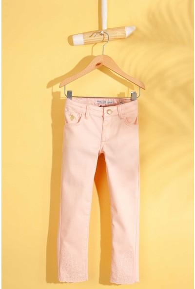 U.S. Polo Assn. Kız Çocuk Dokuma Spor Pant 50203093-Vr042