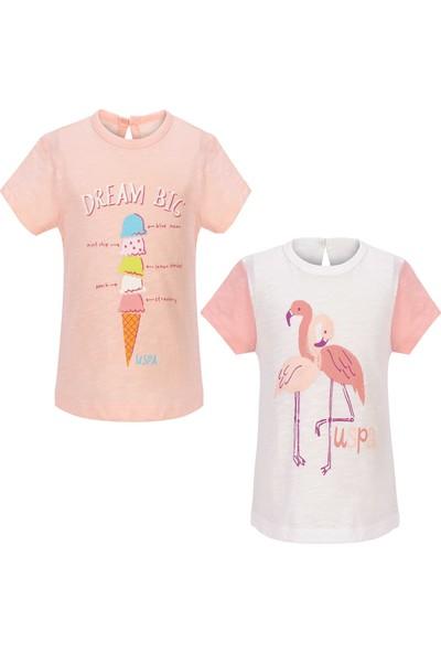 U.S. Polo Assn. Kız Bebek T-Shirt 50205148-Vr019