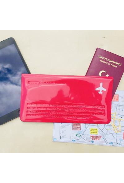 Solaress Happy Travel Pvc Deri Telefon Cüzdanı El ÇantasıPembe