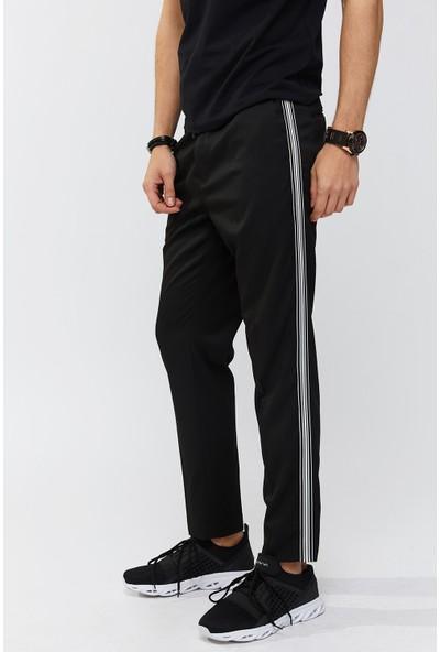 AVVA Siyah Erkek Yandan Cepli Düz Slim Fit Pantolon A91Y3032