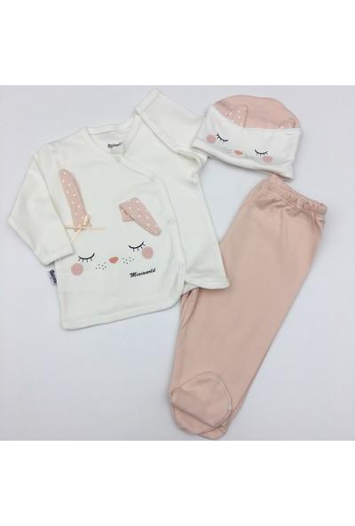 Miniworld Kız Bebek Uyuyan Tavşan Body Takım