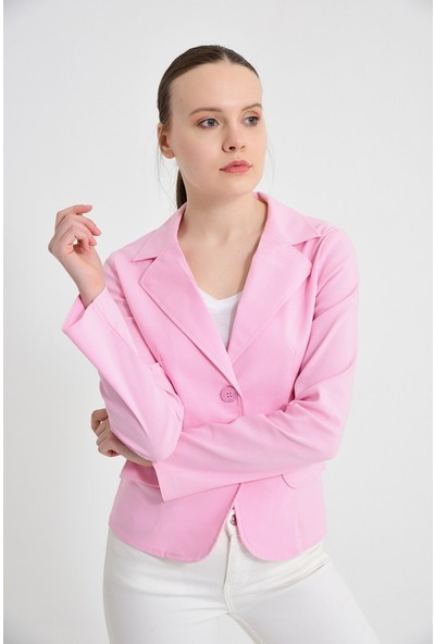 Maldia Pembe Kadın Ceket