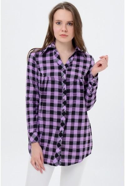 Maldia Kadın Kareli Gömlek Tunik