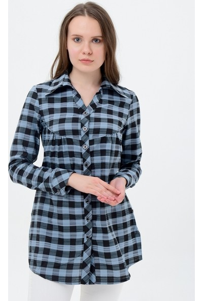 Maldia Kadın Kareli Tunik Gömlek