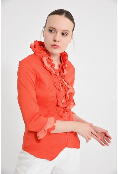 Maldia Kadın Kırmızı Bluz Gömlek