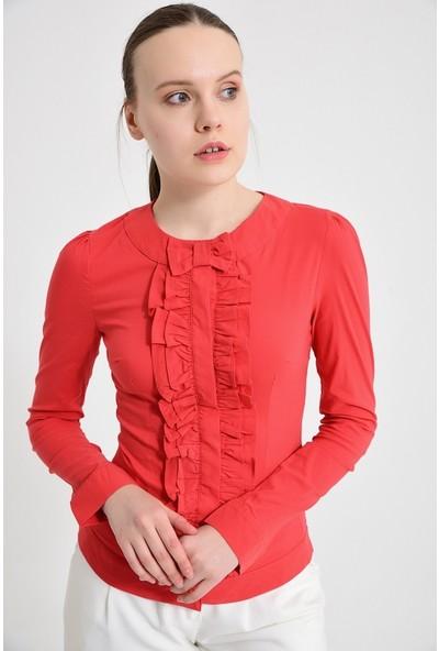 Maldia Kırmızı Kadın Bluz Gömlek