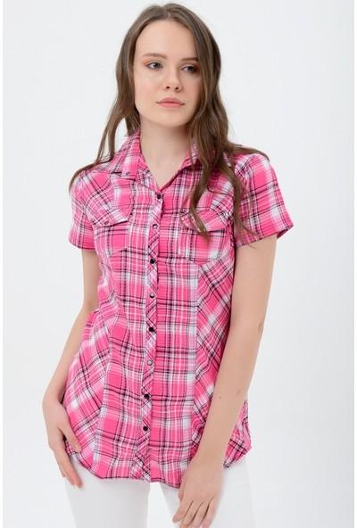 Maldia Kadın Koyu Fuşya Gömlek