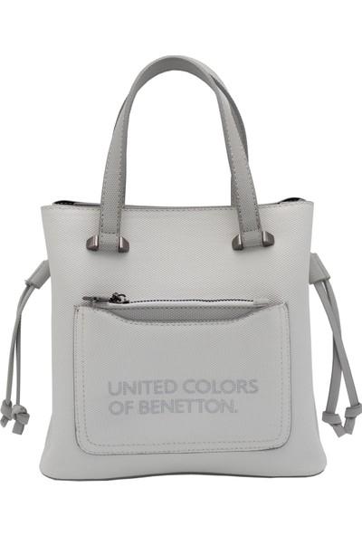 Benetton Kadın El Çantası Beyaz-Açık Gri̇ BNT61