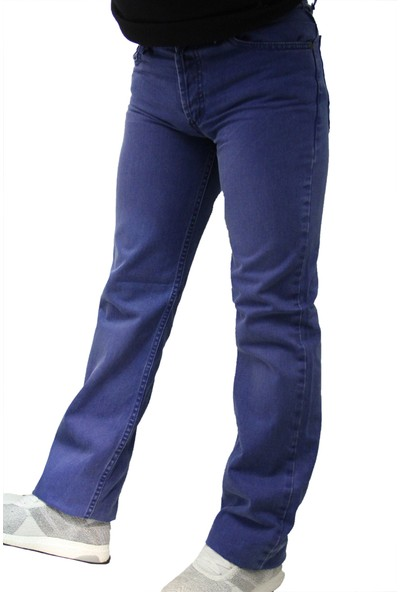 Denim İspanyol Paça Mavi 41003 Yeni̇ Sezon Erkek İspanyol Paça Pantolon