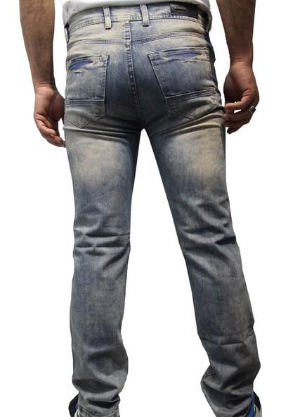 Saflee Dar Kesi̇m Oturtmalı Likralı Sli̇mm Fi̇t Erkek Kot Pantolon