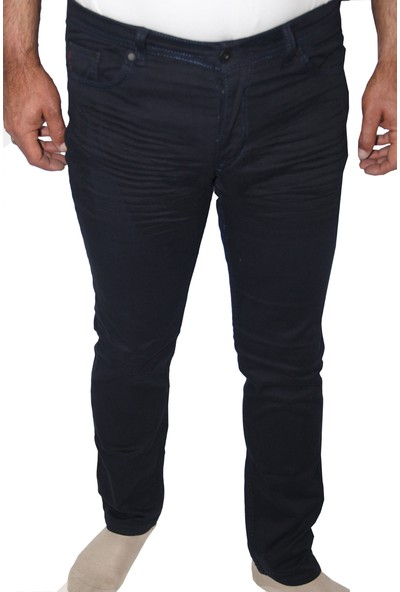 Saflee 002 Dar Kesi̇m Oturtmalı Likralı Sli̇mm Fi̇t Erkek Kot Pantolon