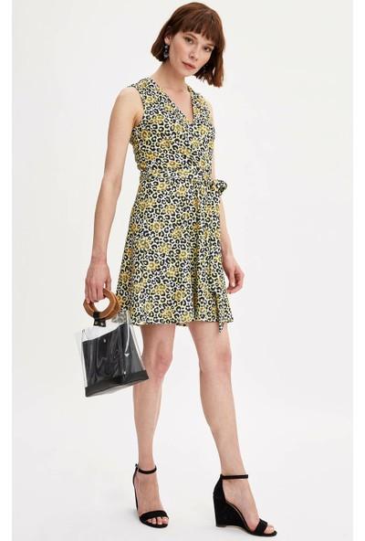Defacto Kadın Desenli Elbise