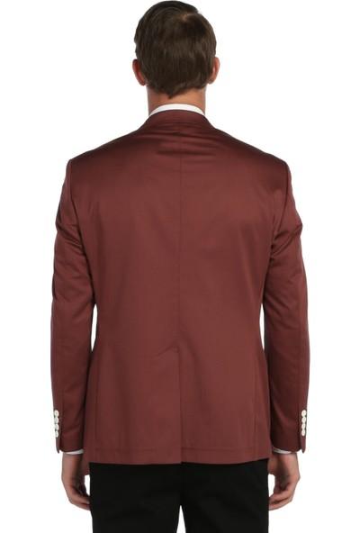 Comienzo Pamuk Penye Yarım Astar Ceket-21047-Kırmızı