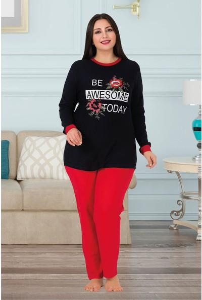 Lady Kadın Büyük Beden Pijama Takımı 152