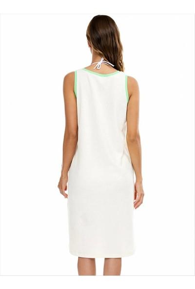 Ayyıldız 59492 Fermuarlı Havlu Elbise Ekru
