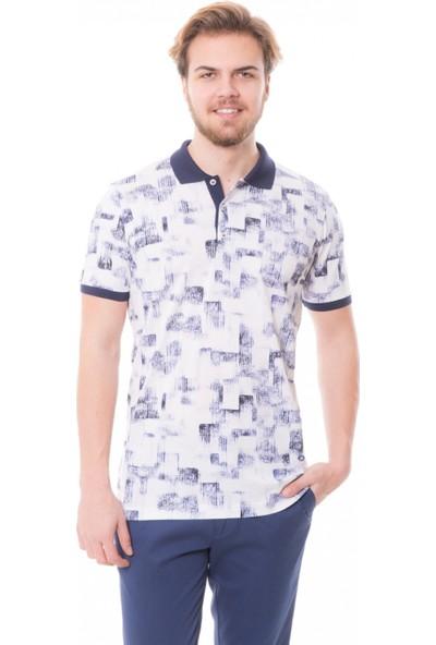 Çift Geyik Karaca Erkek Polo Yaka T-Shirt