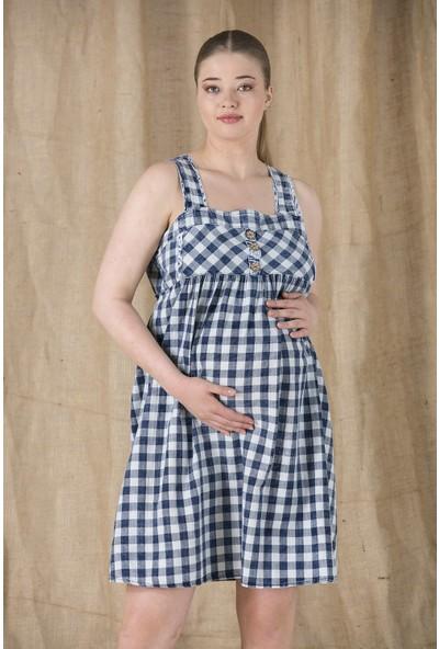 Gör&Sin Dama Yıkamalı Hamile Jile Elbise