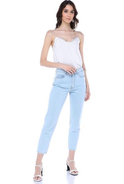 Graffin Buz Mavisi Mom Jeans
