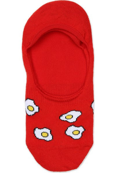 Pixter&Bro Erkek Babet Çorap Kırmızı Egg Altın
