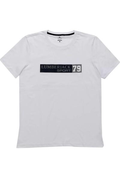 Lumberjack Marcus 3 T-Shirt Ekru Erkek T-Shirt