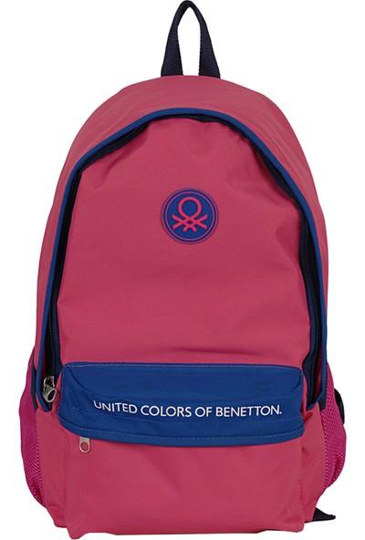 United Colors Of Benetton 96065 Sırt Çantası Pembe - Lacivert
