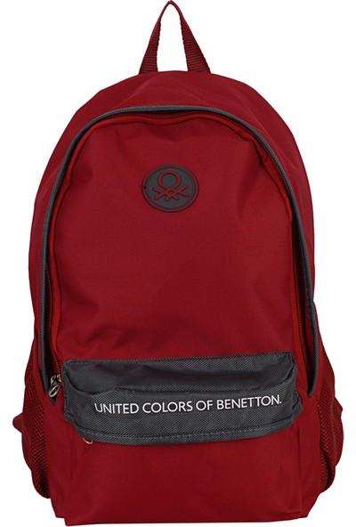 United Colors Of Benetton 96067 Sırt Çantası Bordo - Gri