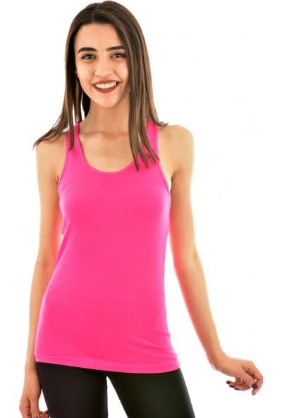 Kota 6044 Kadın Renkli Rambo Atlet - Fuşya
