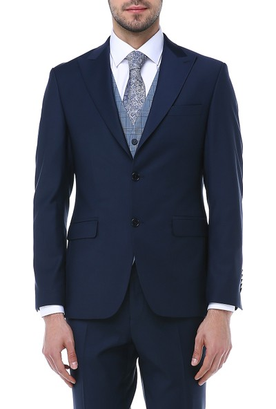 Finesse Erkek Yelekli Kombin Takım Elbise