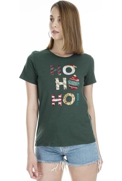 Only Onlmerry Ss Christmas T Shirt Kadın T Shirt 5168505