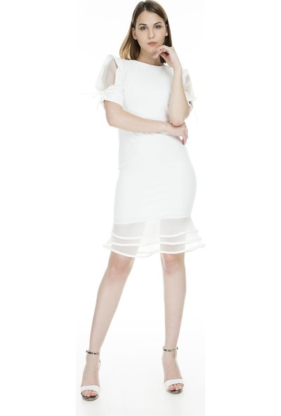 Trend Tül Detaylı Elbise Kadın Elbise 4784116