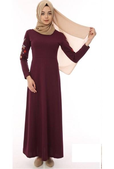 Dng Kadın Siyah Uzun Elbise