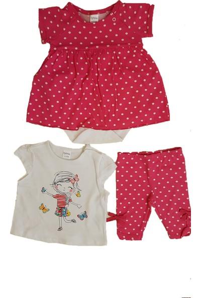 Mymosa Kız Bebek T-Shirt Body Tayt Takım