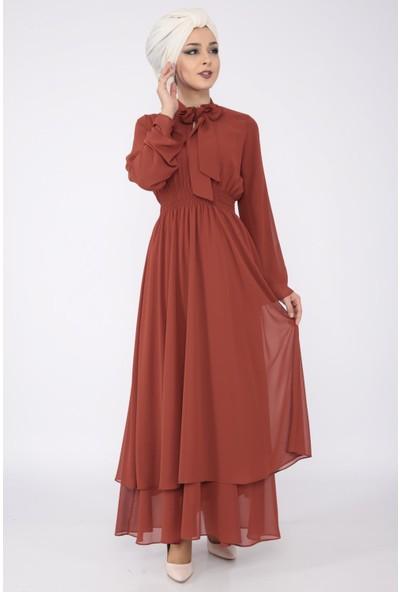 Loreen Kadın Kiremit Elbise