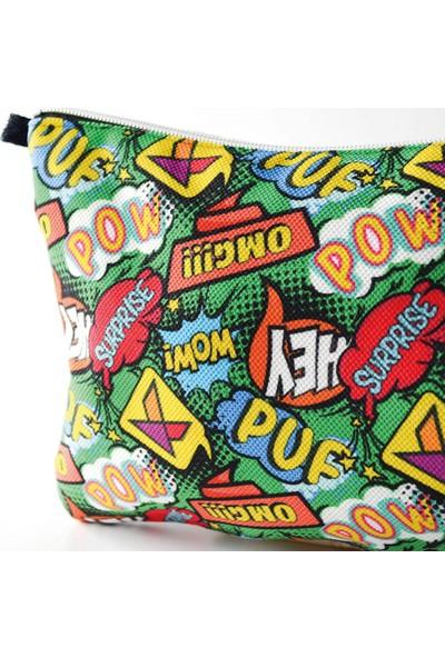 Kagito Pop Art Clutch Çanta