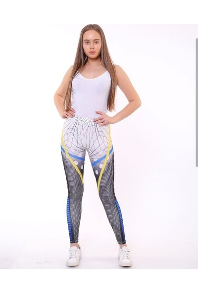 İncebelli Collection Ambemli Yüksek Bel Dalgıç Kumaş Kadın Spor Tayt
