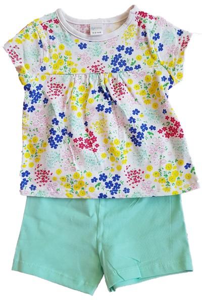 Mymosa Kız Bebek T-Shirt Şort Takım