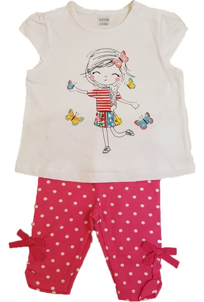 Mymosa Kız Bebek T-Shirt Tayt Takım