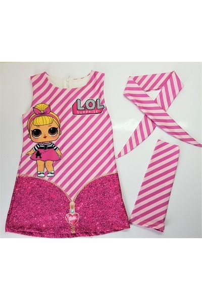 Cociyes Kids Kız Çocuk Elbise Lol Baskılı