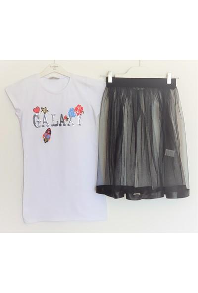 Little Star Kız Çocuk Elbise Etek Takım