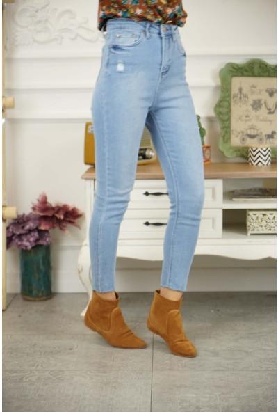 Bade Butik Duru Yüksek Bel Toparlayıcı Yeni Jean