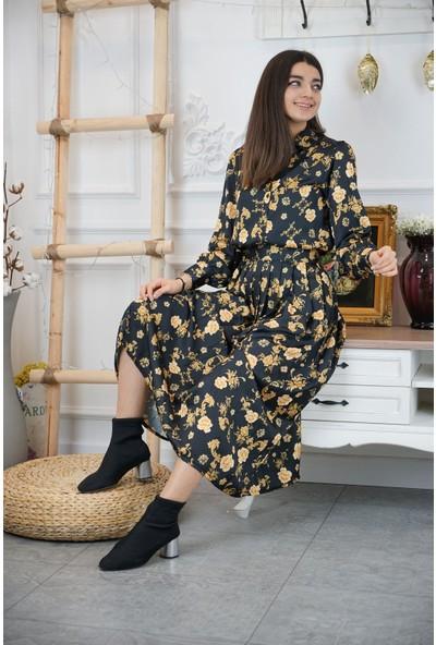Bade Butik Sarı Çiçekli Etekli Vintage Takım