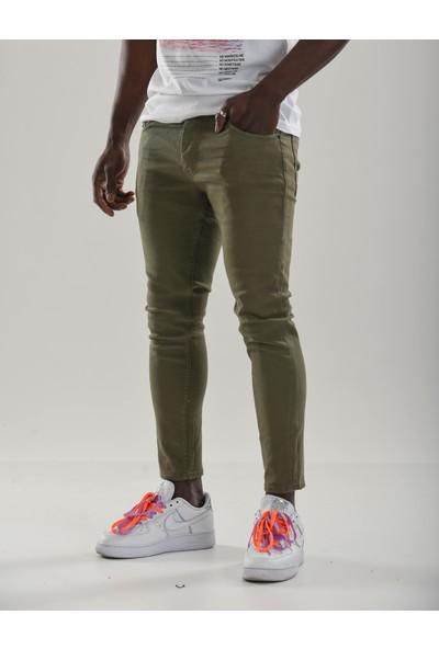 Denim Republic Boyfriend Slim Fit Erkek Yeşil Renk Kot Pantolon 4152